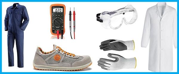 Promozione scuola su camici, occhiali, scarpe da lavoro, ecc